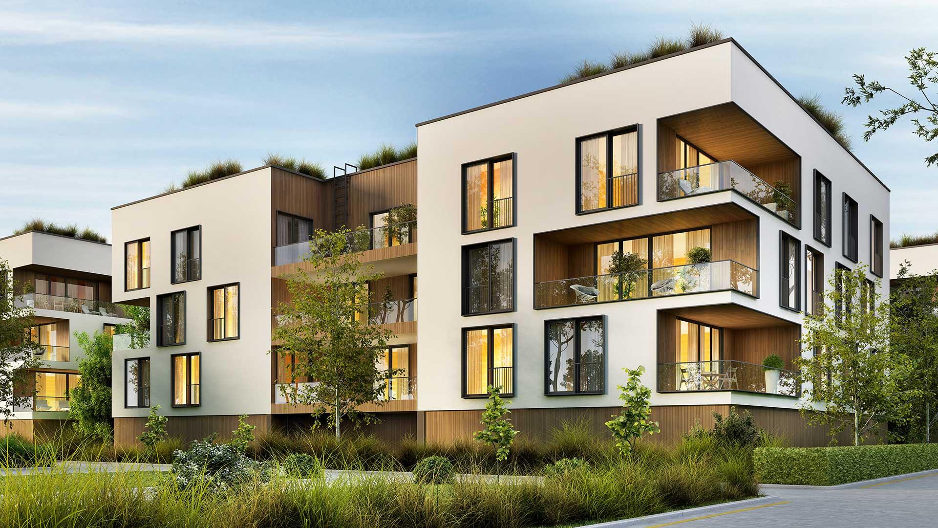 Schönes Wohnbauprojekt
